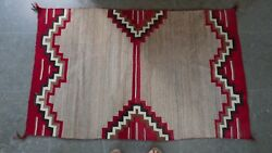 navajo Chief's Blanket Variant Pattern With Churro Wools, Lazy Lines, Excellent