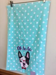 Boston Terrier Washcloth And Hand Towel