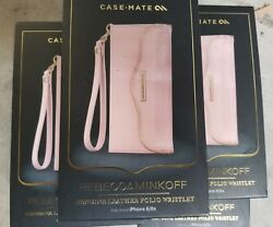 Case Mate Rebecca Minkoff Genuine Leather Folio Wristlet for iPhone 6 6S Pink