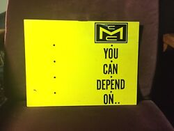 Vintage Mcculloch Chainsaw Sign Store Display Advertising Double Sided