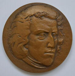 1810-1849 Frederic Chopin Russia Table Medal Of 1979 Rare Lmd