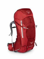 Osprey Packs Women's Ariel AG 65 Backpack Large Picante Red NEW