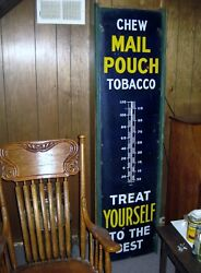 Mail Pouch Porcelain 72 In.thermometer Works With History