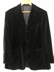 Vintage Holland And Sherry Blue Velvet Sportcoat 40r Or 42s 3 Button