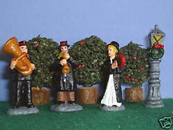 Toy Soldiers Tin Christmas Salvation Army Band 4 Pcs 45 Mm