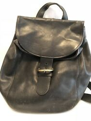 Coach Black Backpack Leather