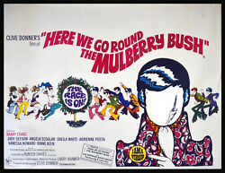 Here We Go Round The Mulberry Bush 1968 Barry Evans Judy Geeson Uk Quad Poster