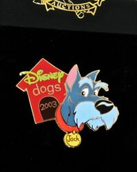 RARE LE 100 Disney Auction Pin✿Lady Tramp Jock Dog House Collar Scottish Terrier