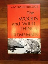 Rare Signed 1st The Woods And Wild Things I Remember Archibald Rutledge Sc Hcdj