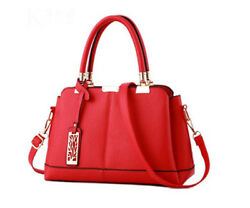 Women Lady Fashion Designer Tote Handbag Top Handle Satchel Work Bag Red
