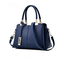 Women Lady Fashion Designer Tote Handbag Top Handle Satchel Work Bag Blue