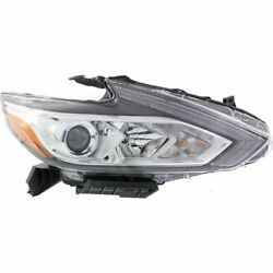 Halogen Headlight For 2016-2017 Nissan Altima Right w Bulb(s) Chrome Interior