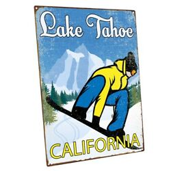 Lake Tahoe California Metal Sign Wall Decor For Vacation Home
