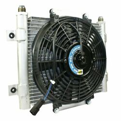 Bd-power Xtruded Auxiliary Trans Cooler With 800cfm Fan -10 Jic Male Fittings