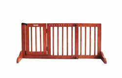 Simply Plus Deluxe Wooden Pet Gate Freestanding Pet Dog Gate For Indoor Hom...