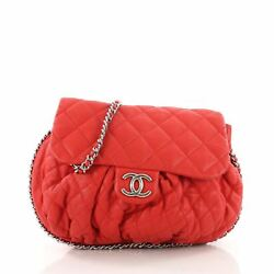Chanel Chain Around Flap Bag Quilted Leather Large