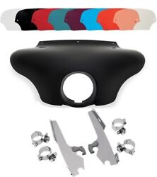 Memphis Shades Batwing Fairing Polished Trigger Lock Mount Shield Fxst/d/b Fxdwg