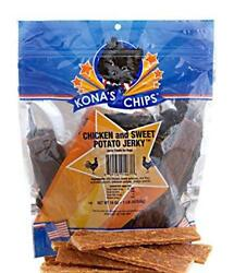 KONA'S CHIPS Chicken and Sweet Potato Jerky; Dog Treats Made In USA ONLY –