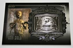 2013 Topps Star Wars Galactic Files Series 2 Medallion Md-6 Han Solo