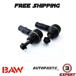 2 New Baw Front Outer Tie Rod End Left Right Fits 2006 2007 Ford Focus Es80580