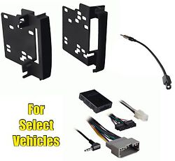 Double Din Car Stereo Radio Install Kit Combo for some Chrysler w/Steering Audio