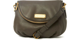 MARC BY MARC JACOBS NEW Q NATASHA IN GREY FULL SIZE CROSS BODY LEATHER BAG