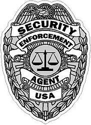Security Enforcement Agent Badge Vinyl Decal Sticker Security Officer Guard