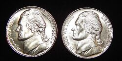 2000 P And 2000 D Bu Jefferson Nickel From Obw Roll Flat Rate Shipping
