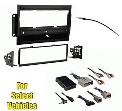 Car Stereo Radio Install Dash Kit Combo for some Lincoln Vehicles w/Steering Con