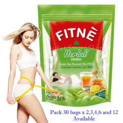 Fitne Infusion Herbal Green Tea Slimming Diet Weight Loss Detox Pack 30 Bags x2