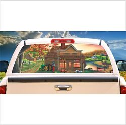 Country General Store Farm Life Rear Window Graphic Truck Rv Mural Tint Decal