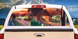Country Living Farm Rear Window Graphic Truck Rv Mural Tint Decal