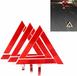 3pack Triple Emergency Warning Triangle Reflector Road Roadside Sign Safety Tool