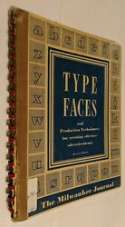 Vintage Type Faces Advertising Technique Manual The Milwaukee Journal 1952