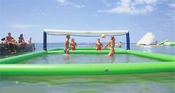 105m Outdoor Inflatable Volleyball Court For Water Beach Game With Air Pump Nu