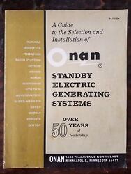 Onan Guide To Selection And Installation Of Standby Electric Generating Systems B