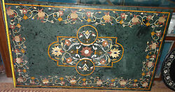 Hard Marble Large Dining Table Top Handmade Arts Marquetry Rare Mosaic Decor