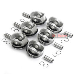 Std 6x Pistons And Rings Set Andphi84.5mm Mahle For Audi A6 A7 A8 2.8 V6 Fsi Ccda Cvpa