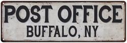 Buffalo Ny Post Office Personalized Metal Sign Vintage 106180011069