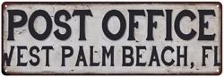 West Palm Beach Fl Post Office Personalized Metal Sign 106180011268