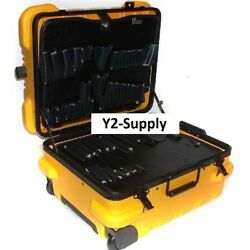 New Ch Ellis Chicago Case Military-wheeled Tool Case-19.5l X 16w X 13h