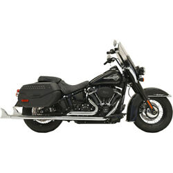 Bassani 1s86e-33 33 Chrome Dual Fishtails Exhaust Harley 18-19 Heritage Deluxe