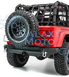 Rear Bumper+tailgate Tire Carrier+2hitch+dual Plate For 97-06 Jeep Wrangler Tj
