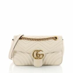Gucci GG Marmont Flap Bag Matelasse Leather Small