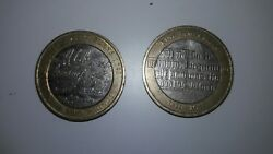 Rare Robert Burns 1759-1796 And King James Bible Andpound2 Pound Coins - 2009 Two Pounds