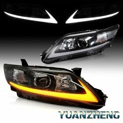 TRL LED Front Lamp Fit 2010-2011 Toyota Camry Signal+DRL Projector Headlights