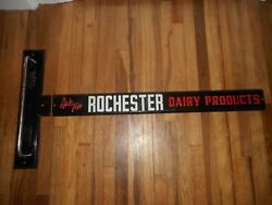 Vintage Rare Rochester Mn Dairy Products Advertising Door Push And Handle Sign