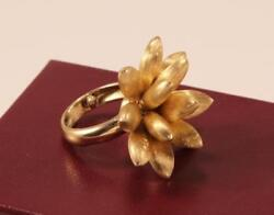 Marco Bicego 18k Yellow Gold Flower Blossom Statement Ring Size 6.75