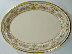 Discontinued Lenox China Castle Garden Pattern 16 3/8 Oval Platter New
