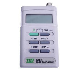 TES-1354 Noise Sound Machine Dosimeter Exposure Time Sound Level 70-90dB